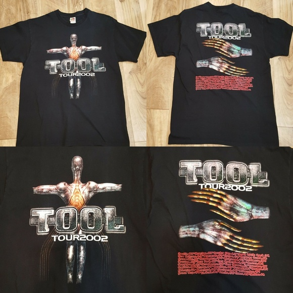 TOOL BAND 2 Black New T-shirt Rock T-shirt Rock Band Shirt